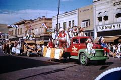 Found Photo - Rodeo Parade - Missoula, Montana (Mark 2400) Tags: found photo 1949 missoula montana rodeo parade