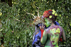 Body painting. (Fallowsite) Tags: bodypainting fillesnues peinturessurcorps couleurs femmes portraits imaginales epinal festival livres fantastiques sf sciencefiction bd romans personnes