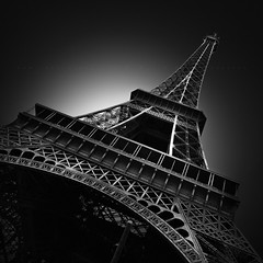 E I F F E L II (FredConcha) Tags: paris toureeiffel touristic france fineart blackandwhite city noireetblanc fredconcha nikond800 1635 lee longexposure