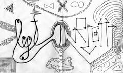 Left Brain / Right Brain (Daniel Ari Friedman) Tags: paper pen ink draw drawing codraw pppip snug love person art creative beautiful freehand cartoon black white bw font lettering letters word fonts cursive