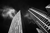 A hot day's afternoon (Sean X. Liu) Tags: building architecture infrared blackandwhite blackwhite monochrome contrast lookup converging sliderssunday
