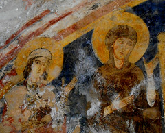 """Fresco (after 1173; detail) with """"Jesus and Saints, among who Saint Thomas Becket"""" - Oratory of Saint Thomas Becket - Cathedral of Anagni / Frosinone (Carlo Raso) Tags: fresco jesus saints saintthomasbecket oratory cathedral anagni frosinone"""