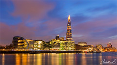 Blue London and Shard (AdelheidS Photography) Tags: adelheidsphotography adelheidsmitt adelheidspictures london shard cityhall thames bluehour clouds reflection evening skyline citylights color unitedkingdom england british greatbritain britain canoneos6d