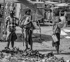 These Sandals? (Rod Waddington) Tags: ethiopia etiopia ethiopian omo omovalley valley banna tribe tribal culture cultural blackandwhite monochrome mono market shoes sandles shopping