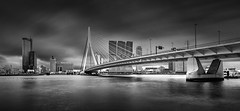 _MG_3939 - When the weather is not cooperative, isn't it? (AlexDROP) Tags: 2018 netherlands europe holland rotterdam travel architecture city skyline wideangle urban longexposure daytime circpl canon6d ef16354lis best iconic geometry famous mustsee picturesque postcard bw
