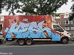 Den Haag Graffiti KESH (Akbar Sim) Tags: denhaag thehague agga holland nederland netherlands graffiti truck car kesh akbarsim akbarsimonse