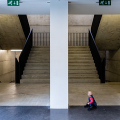 Miss Monamie (Bregg) Tags: concrete stairs stairway baby architecture minimal symmetry