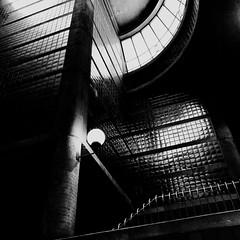 Personne ne remarque les lingots d'or sur les murs... (woltarise) Tags: montréal station métro intérieur architecture outremont puitdelumière carrelage brillant effet lumière béton colonne iphone7