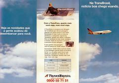 TransBrasil panfleto programa de milhagens aereas anos 90 (Portifólio da Aviação) Tags: xingu embraer vulcan avro volvo a300