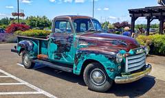 50's GMC (creepingvinesimages) Tags: htt pickup truck vintage antiwue 1950s outdoors sherwood oregon wshintoncounty samsung galaxy s7 pse14 topaz