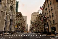 New York (alvarolsalmeida) Tags: ny newyork skyline saintpatrick usa 5thave street fav100 fav150