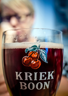 Close Up - Glass of Kriek Boon - Staminee de Garre (Bruges) (High ISO) (Fujifilm X70 Trans-X Compact with 28mm f2.8 Prime Lens) (1 of 1)