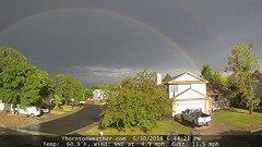 May 30, 2018 - A double rainbow east of Thornton. (ThorntonWeather.com)