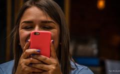 2018 - Mexico City - Mercado del Carmen - 3 of 6 (Ted's photos - Returns Late November) Tags: 2018 cdmx cityofmexico cropped mexicocity nikon nikond750 nikonfx tedmcgrath tedsphotos tedsphotosmexico vignetting bokeh fingers fingernails smile smiling cellphone female eyebrows eyes hair longhair girl iphone