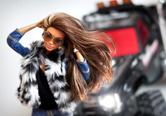 Jenny (Maria_arcticfox) Tags: barbie made move skateboarding girl toy mattel car truck racing