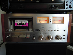 Yes! I finally got my teenage DREAM tape deck... a few decades late. The 1976 Pioneer CT-F9191 in all its chrome and wood analog perfection. Replete with soft-touch keys, memory function, limiter, bias, EQ settings, an MPX filter and Dolby. Sounds great! (wavz13) Tags: analog vintageanalog 1970sanalog oldcassettes oldcassette vintagecassettes 1970scassettes 1970scassette vintagecassette oldtapedecks oldtapedeck 1970stapedecks 1970stapedeck vintagetapedecks vintagetapedeck analogaudio vintageaudio 1970saudio oldelectronics vintageelectronics 1970selectronics oldtaperecorders vintagetaperecorders 1970staperecorders collectibletaperecorders collectabletaperecorders oldtaperecorder vintagetaperecorder 1970staperecorder collectibletaperecorder collectabletaperecorder 1970s taperecorders taperecorder tapedecks tapedeck collectibleelectronics collectableelectronics