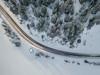 Winter road (kaifr) Tags: trees hut road winter building aerial pines birdseyeview snow tinn telemark norway no