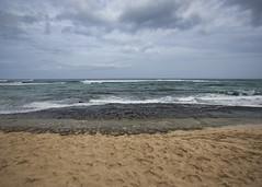 Laniakea Beach (fantommst) Tags: lisaridings fantommst laniakea turtle beach honolulu oahu hawaii hi usa us sea seascape ocean pacific cloudy sand rock shelf tide empty