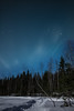 (thom1331) Tags: night sky winter art snow trees forest clouds stars astrophotography cold calm