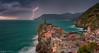Stormy sunset in Vernazza , Cinque Terre , Liguria ... (Anton Calpagiu) Tags: vernazza liguria lightnings storm rain clouds
