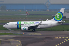 PH-XRD, Amsterdam Schiphol, October 19th 2015 (Southsea_Matt) Tags: phxrd boeing 7377k2 transavia october 2015 autumn schiphol ams eham amsterdam holland thenetherlands canon 60d aircraft plane aviation airport transport