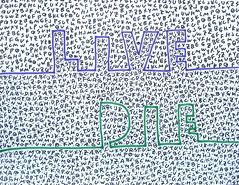foolish drawing (contradiction) (ksaito57) Tags: art foolish drawing humorous word live die