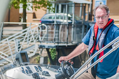 The Boat Driver (tramsteer) Tags: tramsteer streetphotography boat man male driver portishead marina somerset