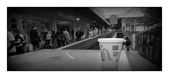 Hot and abandoned (david.hayes77) Tags: westmidlands newstreet corporationstreet 1998 monochrome bw blackandwhite mcdonaldscup polystyrene nikonf70 kodak t400cn pano panorama hotandabandoned urban streetphotography people humanity film litter thepallasades