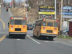 Arthur F. Mulligan #248 and #265 (ThoseGuys119) Tags: arthurfmulliganinc schoolbus saftliner c2 thomas built