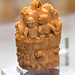 Small ivory carving of castle defence