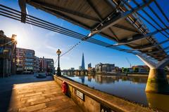St Paul's walk | London, England (NicoTrinkhaus) Tags: millenniumbridge london uk england morninghours architecture sky building sun