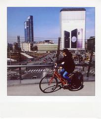 Milano (Valt3r Rav3ra - DEVOted!) Tags: fuji instantfilm instantcamera instax instaxsquare valt3r valterravera visioniurbane urbanvisions streetphotography street colori milano bike bicicletta