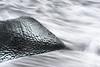 Charcoal drawing (George Pancescu) Tags: nikon d810 70200mm iceland water ice longexposure monochrome nature natural outdoor abstract waves iceberg jokulsarlon diamondbeach