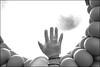 (Birth) (Robbie McIntosh) Tags: leicam9p leica m9p rangefinder streetphotography 35mm leicam summicron leicasummicron35mmf20iv blackandwhite bw biancoenero bn monochrome summicron35mmf20iv autaut eyecontact rayban demonstration nodebito napoli naples digital protest hand balloons