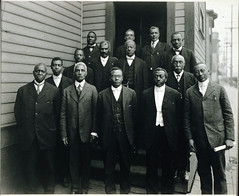 African Methodist Episcopal Church Elders (1930s) (Brett Streutker) Tags: lutheran methodist episcopal assemblies apostolic fundamentalist nostalgia antique school religion time old israeli israel palastine joseph mary diciples apostles samaria jerusalem bethlehem brirth passover christmas herod thus version international standard american new james king moody seminary conference epistles gospels john enemy devil satan antichrist son tribulation revelation study verse psalm tent meeting gospel evangelical saved again born jehovah yahweh god rapture scriptures bible he creationism creation science jesus creator christ easter 2017 stars ame church