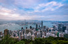 Hong Kong before sunset (_gate_) Tags: victoria peak hong kong harbour 香港 night cityscape view shot towers bank nd1000 weitwinkel angle wide wolken cloud clouds cloudy nikon city skyline 2017 november gate d750 avenue stars special administrative region peoples republic china stadt himmel gebäude wasser meer boot berg bucht tamron 1530mm vc wolkenkratzer nacht