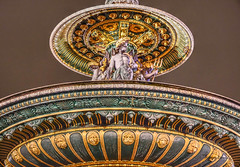 La Fontaine des Fleuves (albyn.davis) Tags: concorde fountain art sculpture paris france europe night light colors colorful yellow gold statue