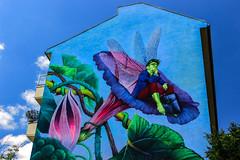Tomorrow never come (JuliSonne) Tags: scene streetart urban pasteup stencil street berlin muralfestivalberlin mural nataliarak