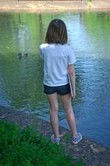 Evie at Alton Baker Park (pete4ducks) Tags: altonbakerpark evie evangeline on1pics park eugene oregon raw 2018 spring child kid girl sonyalpha mirrorless duck bird animal green 500views