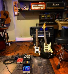 Time to Play (Pennan_Brae) Tags: stratocaster fenderstrat fenderstratocaster fender travelguitar musicproduction musicproducer electricguitar music musicians musicstudio recordingsession recordingstudio recording electricguitars guitars