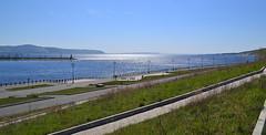 Volga river upstream II (МирославСтаменов) Tags: russia togliatti river volga overlook embankment slope water horizon