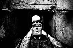 At The End Of The Tunnel (jah32) Tags: trains train tunnel light lightroom brick bricks blackandwhite blackwhite bw cmwdbw monochromatic monochrome shadow shadows cn cnrail flyingexpress hardyboys