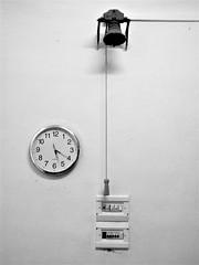 The bell (magellano) Tags: campanella bell orologio watch parete wall interruttore switch chiesa church tempo time sangiovannibattistadeicelestini celestini