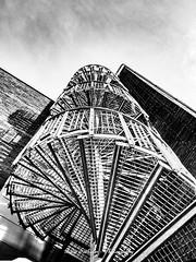 Stairway to heaven (bodoedthofer) Tags: stairway heaven fire escape bw light shadow lund university geometrisch architektur