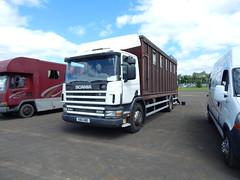 X915 HBE (Jonny1312) Tags: lorry truck livestock livestocktruck horsebox ballymena antrim scania