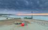 Lost At Sea (nicklucas2) Tags: mudeford seascape beach beachhut lowtide pebble sand sea solent seaside groyne cloud buoy
