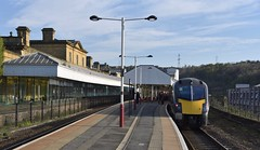 Halifax West Yorkshire 22nd April 2018 (loose_grip_99) Tags: railway railroad rail train station transportation grandcentral arriva db class180 dmu diesel multiple unit trains railways zephyr 180105 halifax westyorkshire yorkshire england uk april 2018