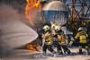 Fire Fighter Training (PiConsti) Tags: piconsti fire fighter brigade feuerwehr flame flammen feuer übung freiwillig arlesheim zofingen siegfried flüssigbrand liquid burn burning water control extinguish löschen hot action men heroes foam tank several fires danger dangerous gefahr gefährlich entzündlich entfalmmbar explosiv