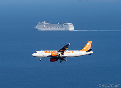 12 Juxtaposition (manxmaid2000) Tags: ship aircraft plane contrast below juxtaposed madeira funchal msc easyjet sea atlantic ocean close proximity orchestra water travel holiday vacation arrive depart airplane juxtaposition different airport landing sailing cruise boat