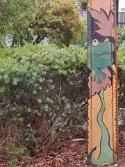 Frog on Stobie (mikecogh) Tags: bowden stobiepole painted frog bush